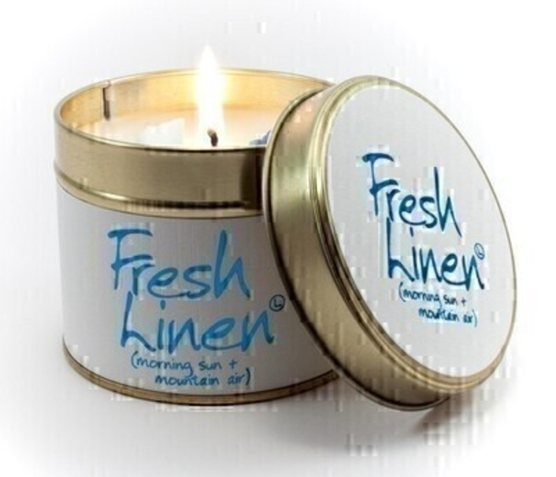 Fresh Linen Scented Candle By Lily Flame: Booker Gifts