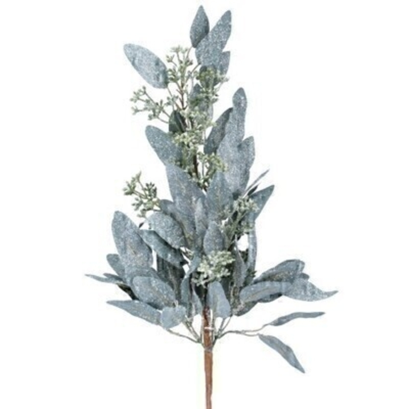 This frosted eucalyptus branch is by Designer Gisela Graham and will delight for years to come. It will compliment any Christmas decorations and has a matching garland and wreath available. Remember Booker Flowers and Gifts for Gisela Graham Christmas Decorations.