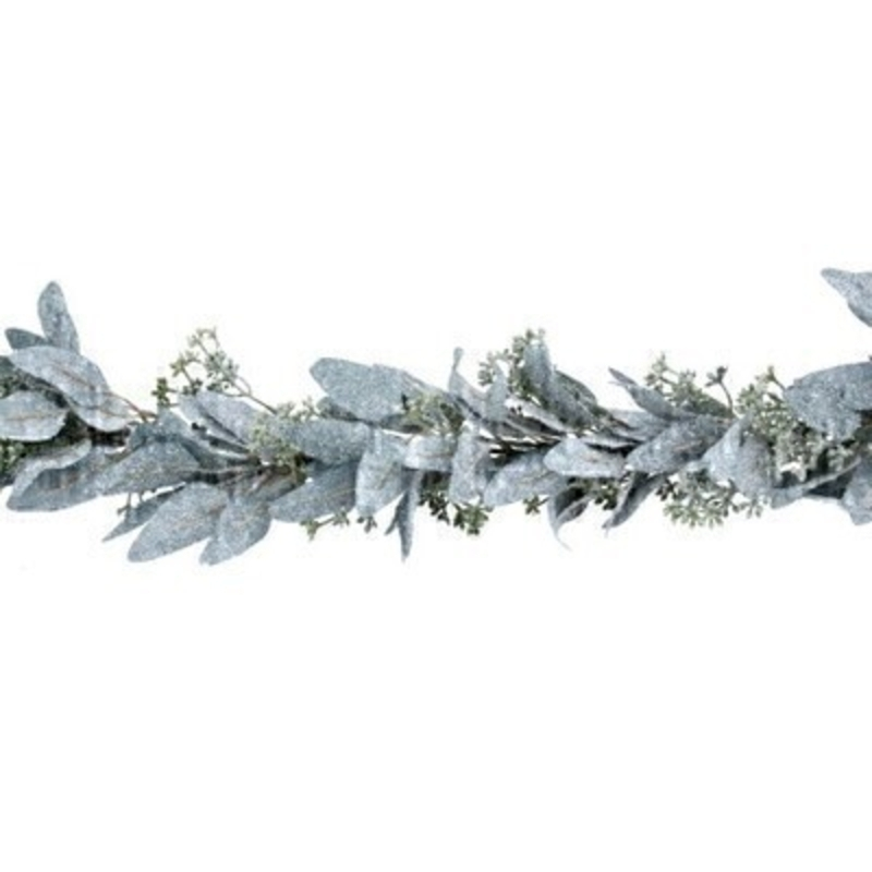 This frosted eucalyptus garland is by Designer Gisela Graham and will delight for years to come. It will compliment any Christmas decorations and has a matching wreath available. Remember Booker Flowers and Gifts for Gisela Graham Christmas Decorations.