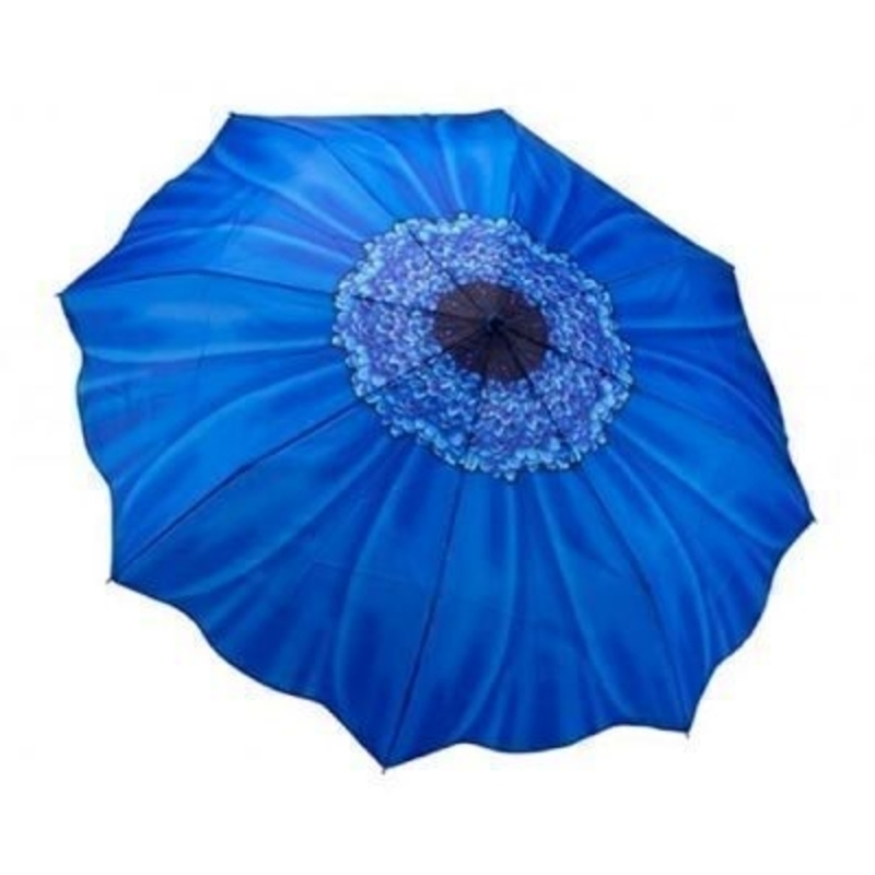 Galleria Blue Daisy Umbrella - Folding: Booker Gifts