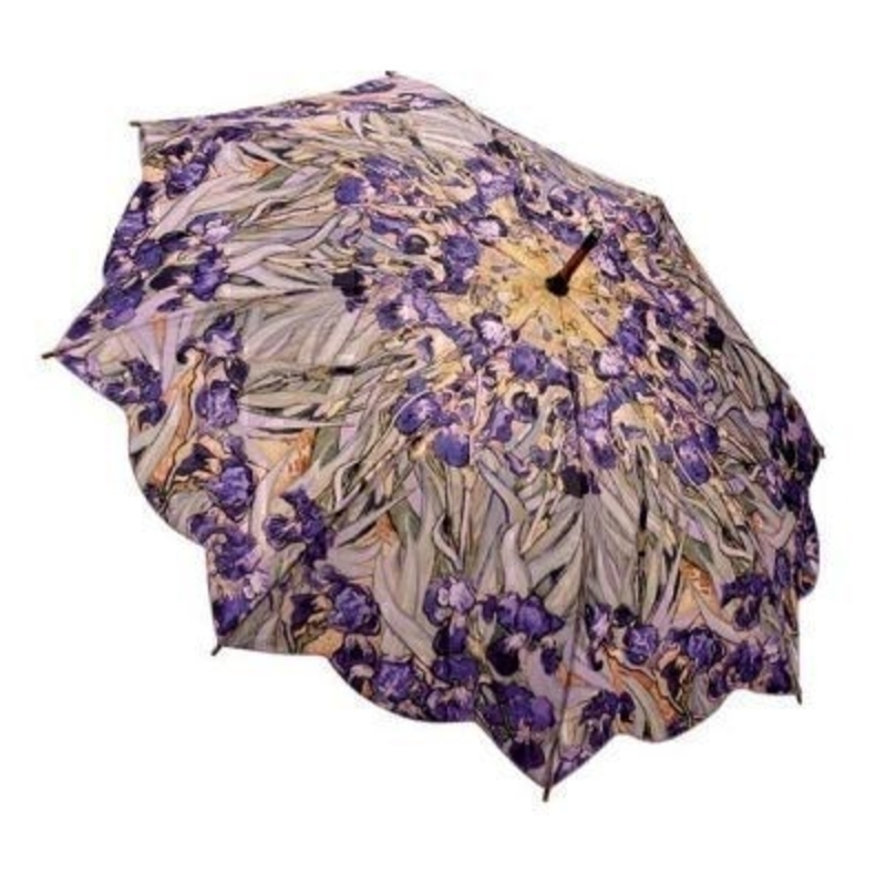 Galleria Van Gogh Iris Umbrella - Stick: Booker Gifts