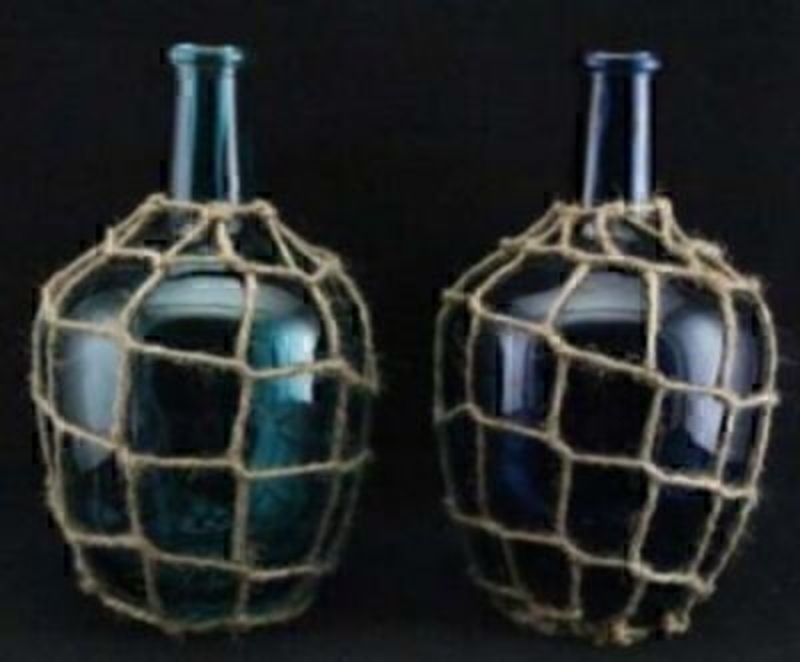 Glass Bottle Vase by Gisela Graham Choice of 2: Booker Gifts