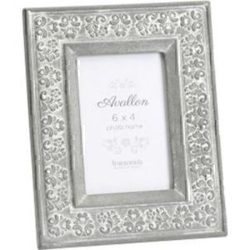 Grey Shabby Chic Carved Wood Photo Frame by Transomnia: Booker Gifts