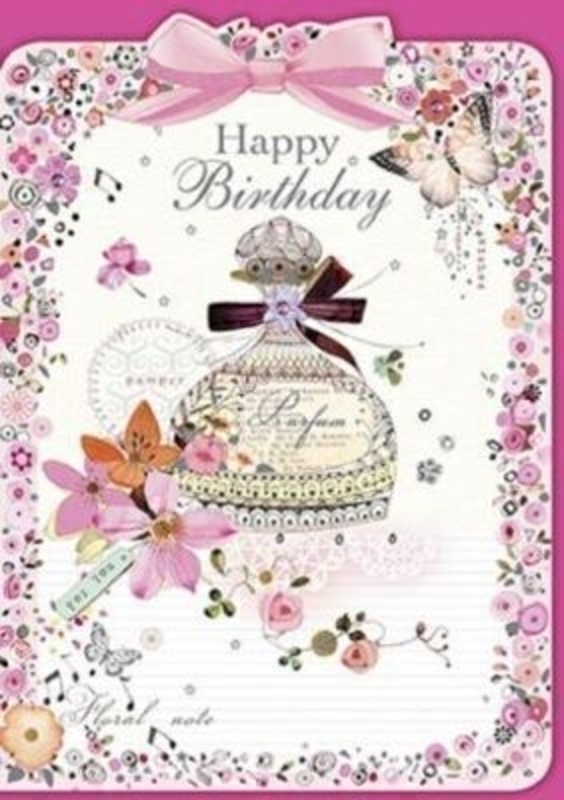 Happy Birthday Card Perfume by Florentine Vintage: Booker Gifts