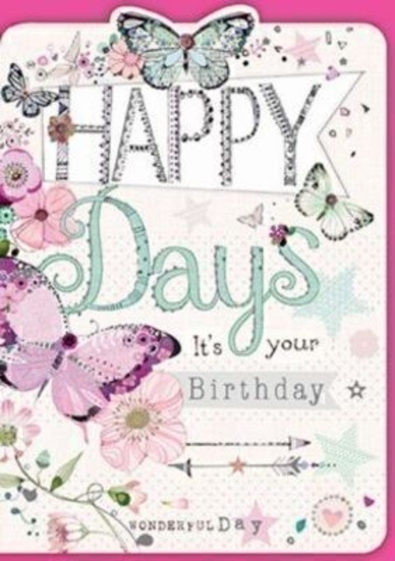 Happy Days Birthday Card By Paper Rose: Booker Gifts
