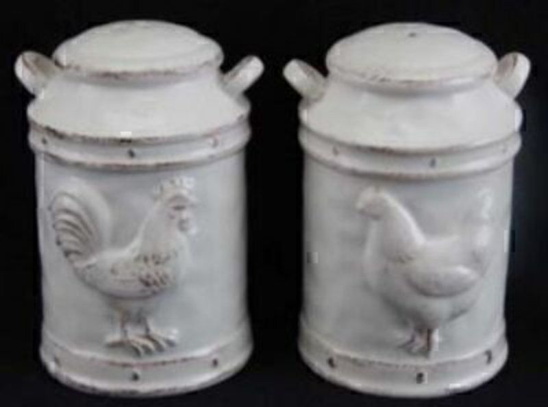 Hen Milk Urn Salt And Pepper Holders By Gisela Graham: Booker Gifts