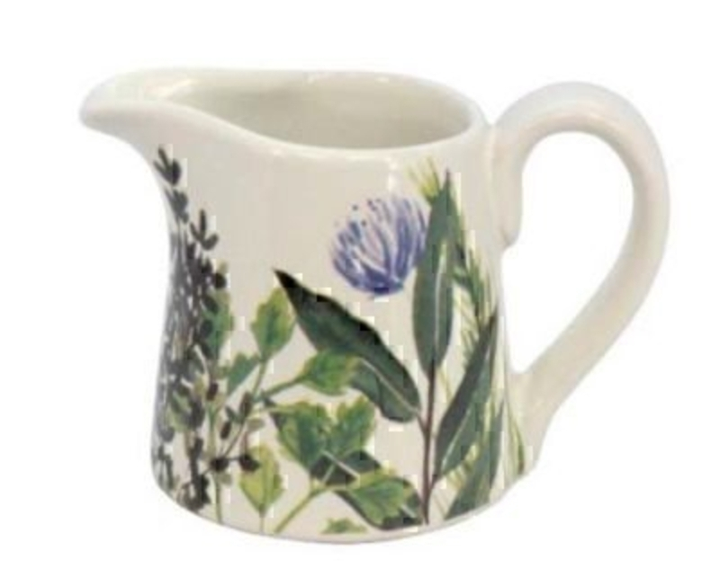 Herbs Ceramic Jug by Gisela Graham: Booker Gifts