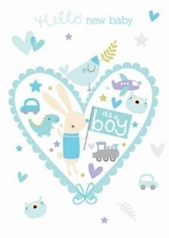 It S A Boy New Baby Card By The Art Group: Booker Gifts