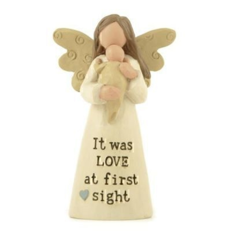 It Was Love at First Sight Baby and an Angel Ornament by Heaven Sends: Booker Gifts