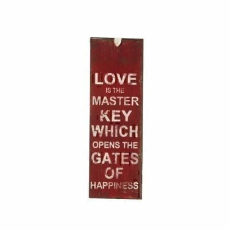 Love Is The Master Key Mini Metal Sign By Heaven Sends: Booker Gifts