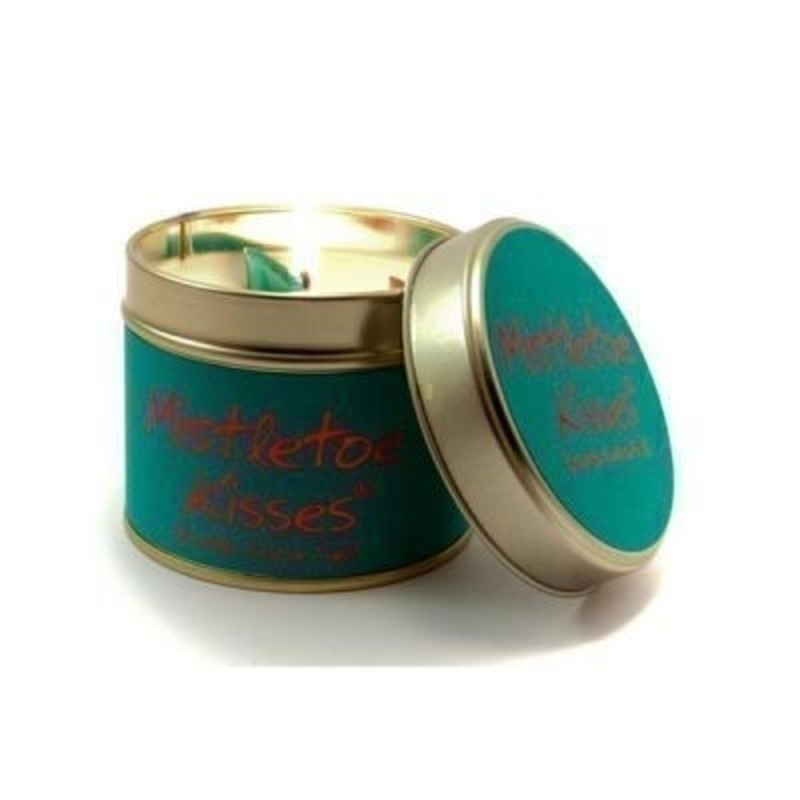 Mistletoe Kisses Scented Candle by Lily Flame: Booker Gifts