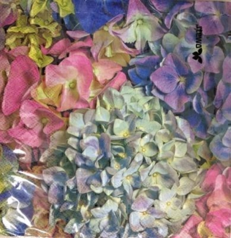 Mixed Hydrangea Design Monia Paper Napkins by Stewo: Booker Gifts