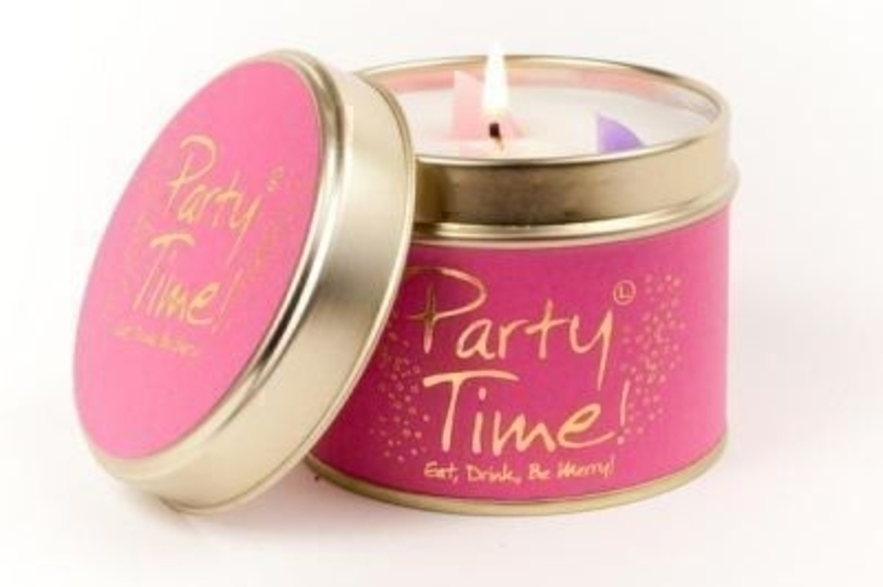 Let Lily Flame scented candles transport you to a different place. Party Time - Eat, Drink, Be Merry! As Vibrant as the gold and pink on the label and part of the same 'Fine Fragrance' family as Fairy, Blush and Exquisite, this is a sophisticated night