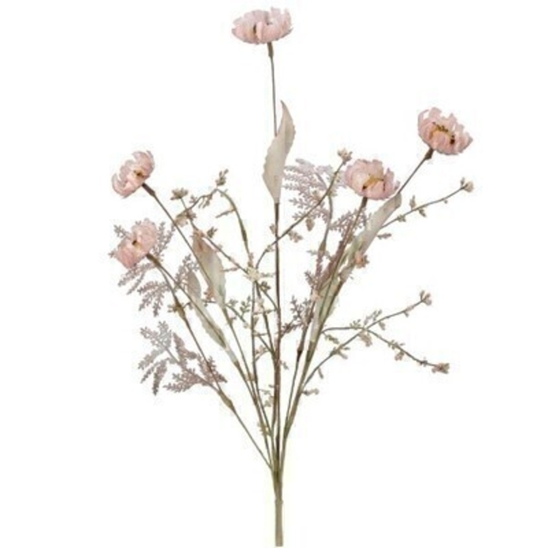 A realistic faux pink fern and wildflower artifical flowers. The artifical pick can be arranged into a pot or vase. made by the Londer designer Gisela Graham who designs really beautiful gifts for your home and garden. Would make an ideal gift. Would look good in any home and would suit any decor.