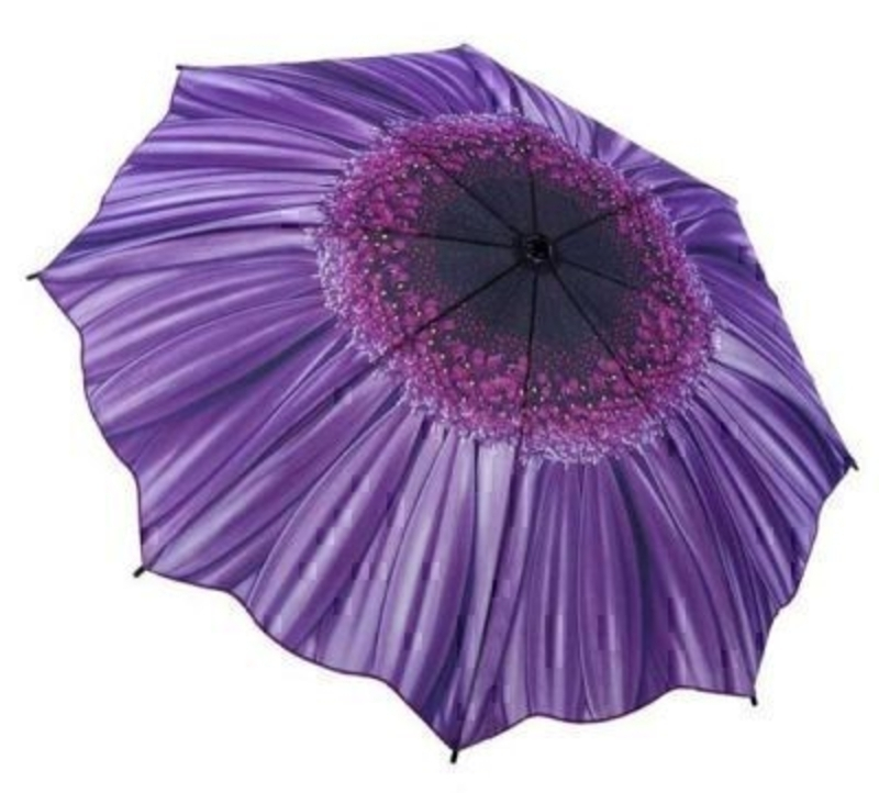 Purple Flower Umbrella By Blooming Brollies - Folding: Booker Gifts