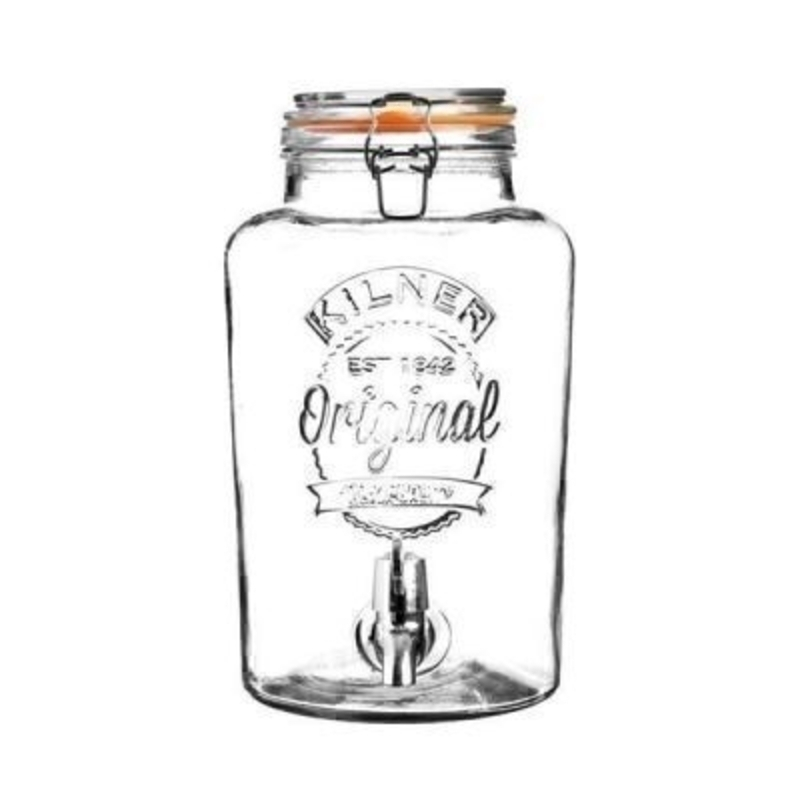 Kilner 5 Litre Drinks Dispenser can be used to serve many types of beverages and is ideal for parties and barbecues. It has a substantial - excellent quality clip and Kilner orange seal - embossed Kilner logo and decoration. Hand wash Only. Size 31x25x18c