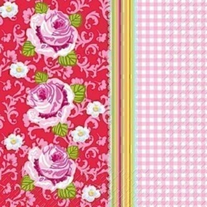 Rose And Gingham Peggy Napkin By Stewo: Booker Gifts