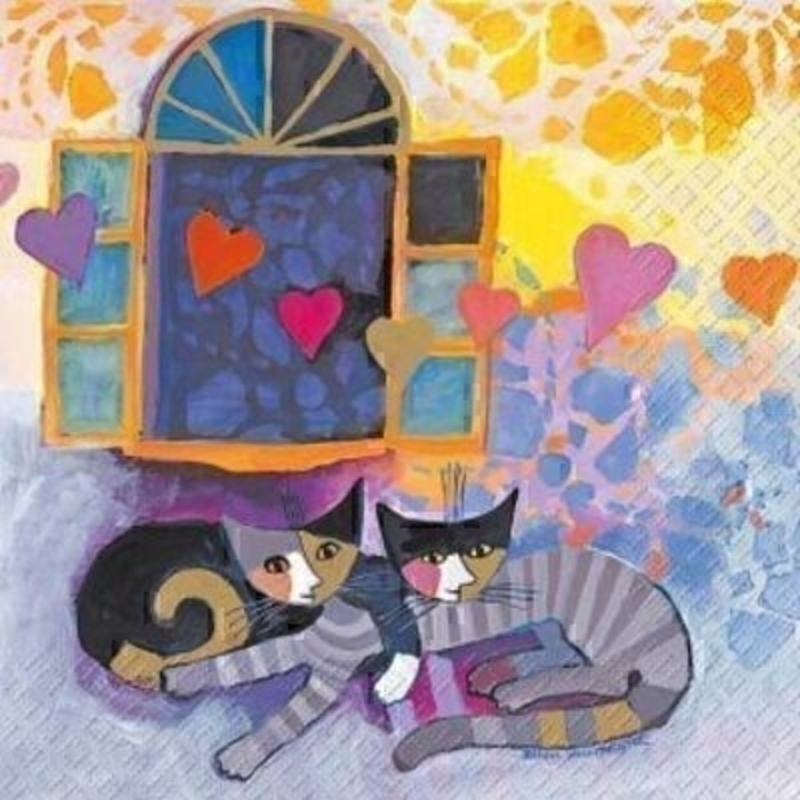 Rosina Wachmeister Flying Hearts Napkins By Stewo: Booker Gifts
