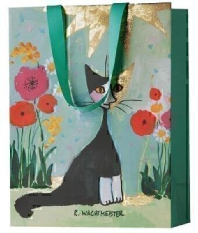 Rosina Watchmeister Gift Bag My Garden Turquoise By Ste: Booker Gifts