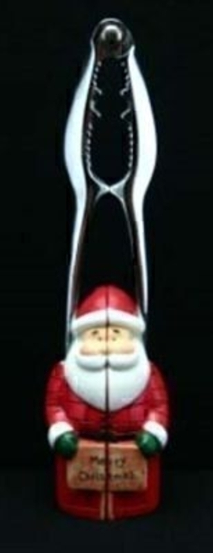 Santa Father Christmas Nut Cracker by Gisela Graham. Nut crackers with a Father Christmas handle are sure to please when they get brought out year after year. This Nut Cracker can go away with your Christmas decorations and come out for the festive period, keeping in special. Size 19x6x4cm<br><br>