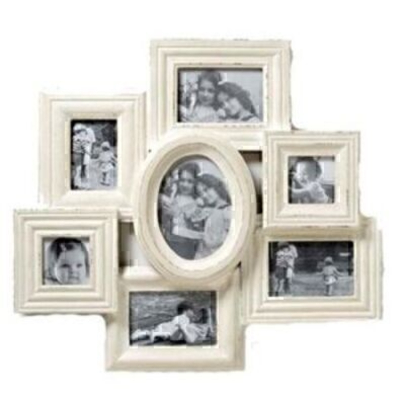Shabby Chic Cream Multi Frame By Heaven Sends: Booker Gifts