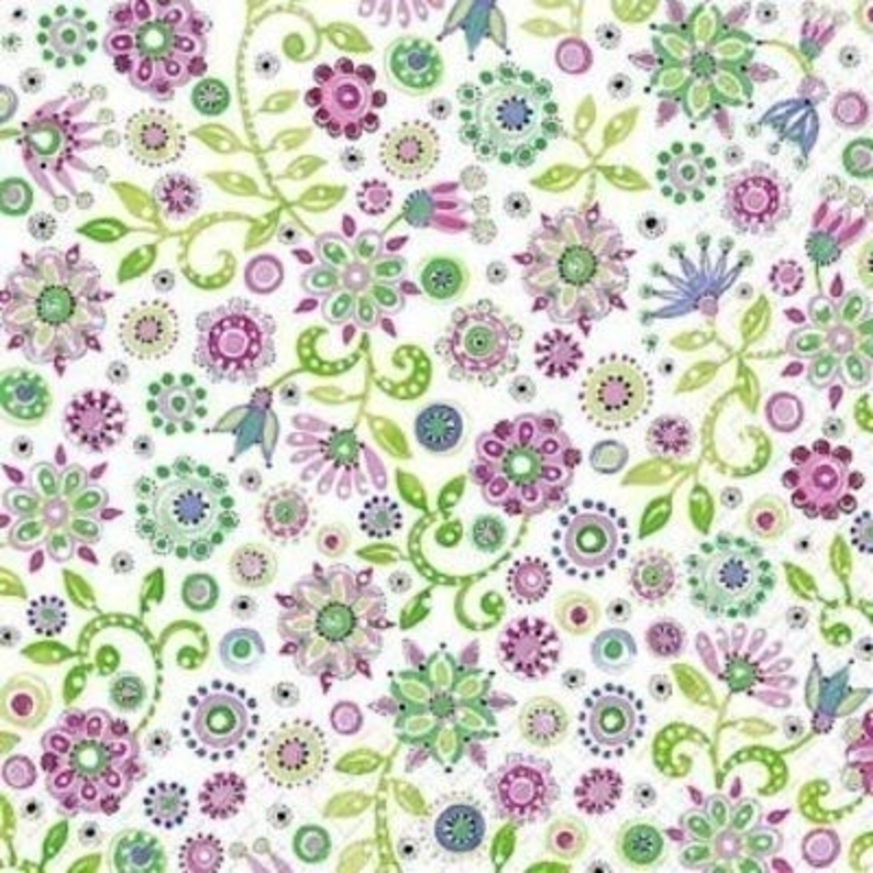 Small Floral Tammie Napkin By Stewo: Booker Gifts