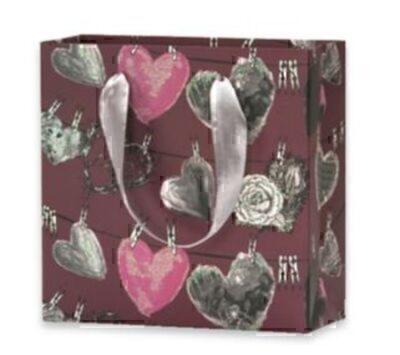 Small Hearts On Washing Line Gift Bag Vallila Hehku By: Booker Gifts