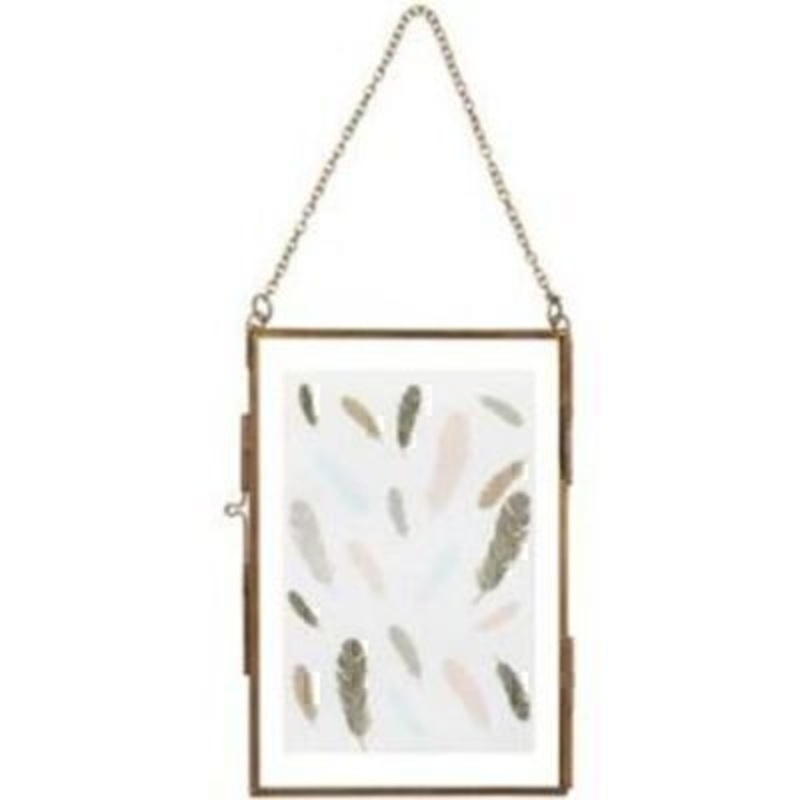 Vintage Antique Style Brass Hanging Frame by Transomnia: Booker Gifts