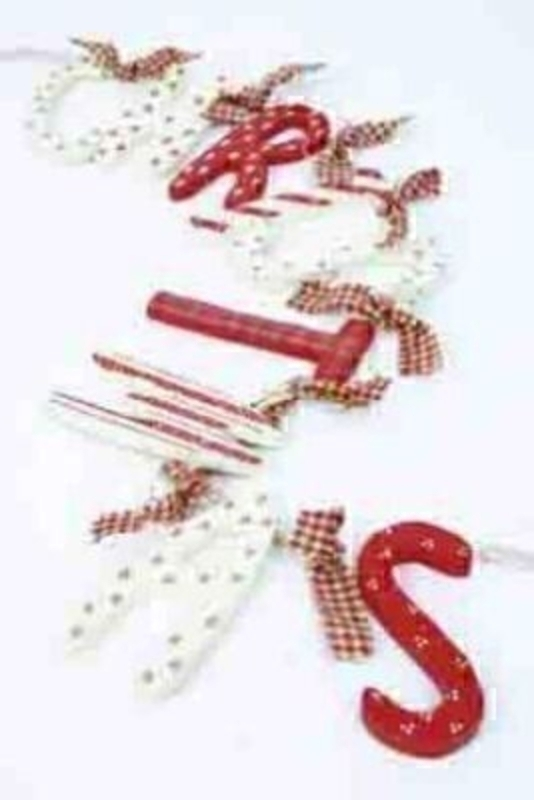 Wooden Christmas Garland By Heaven Sends: Booker Gifts