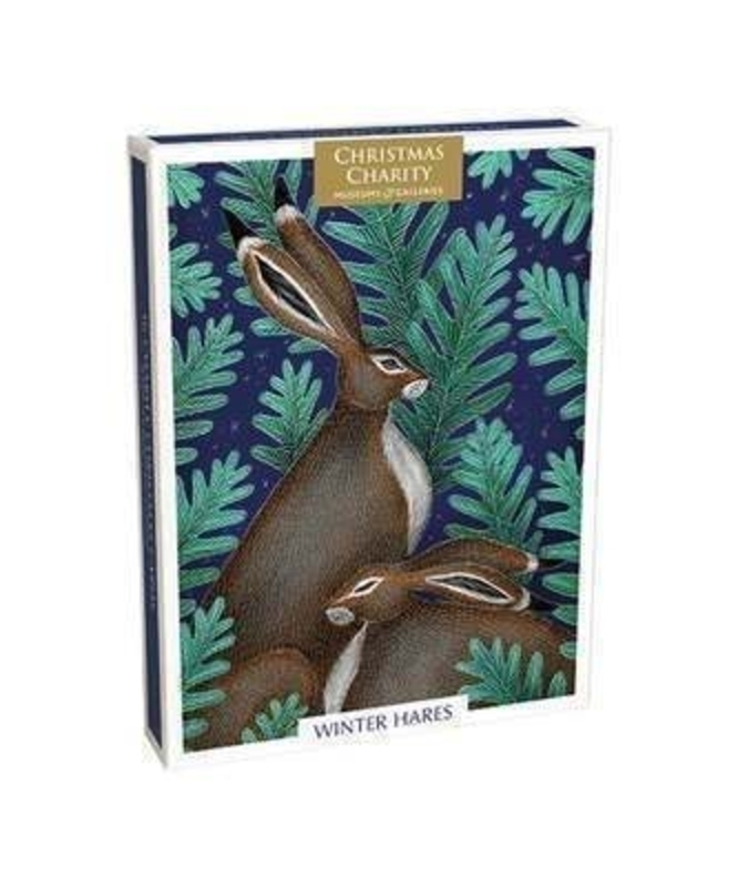 16 Winter Hares Luxury Charity Christmas Cards