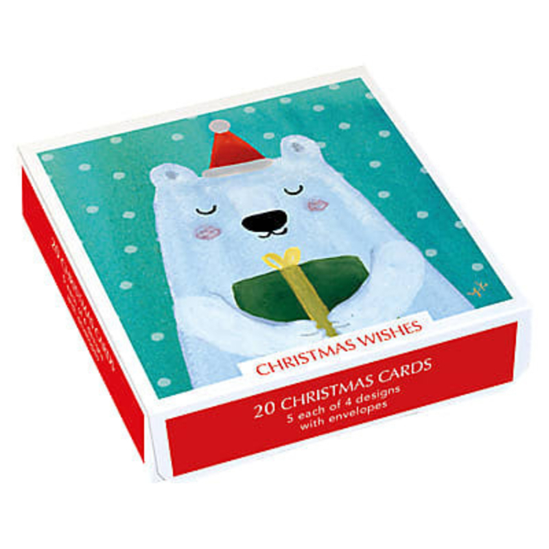 20 Assorted Christmas Wishes Charity Cards