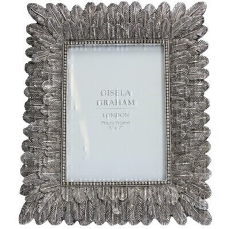 Antique Silver Picture Frame By Gisela Graham