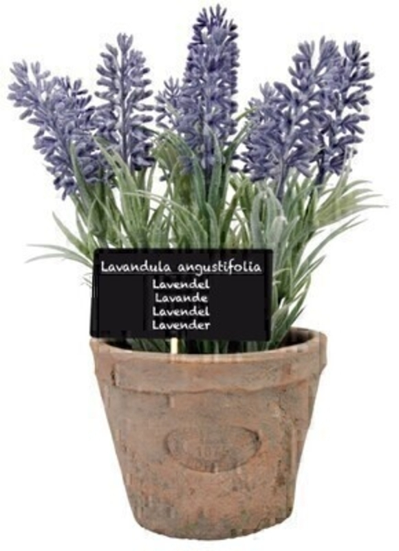 Artificial Lavender in Large Terracotta Pot