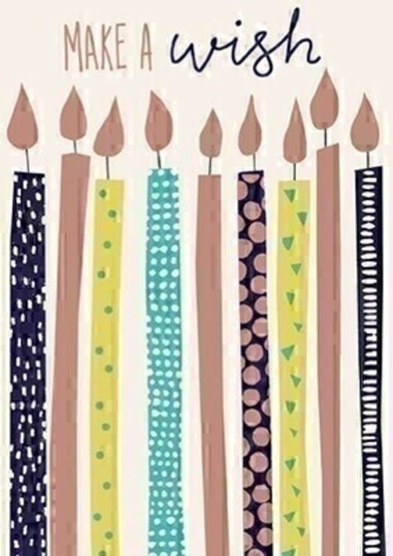 Birthday Candles Greetings Card With Envelope