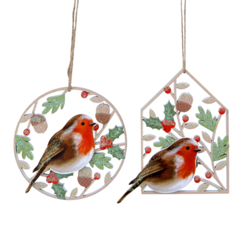 Choice of 2 Robin Christmas Hanging Decoration by Gisela Graham