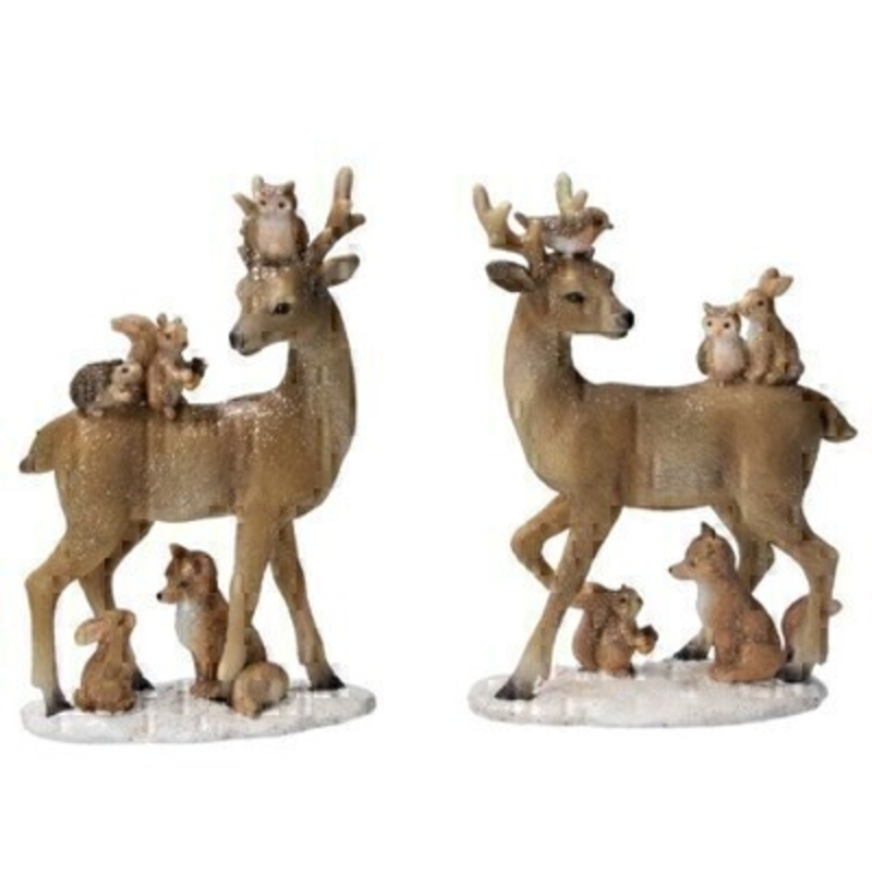 Choice of 2 Woodland Animals Ornament Gisela Graham