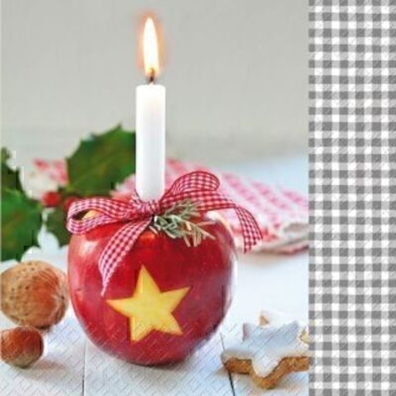 Christmas Napkins Candle Design Karin by Stewo
