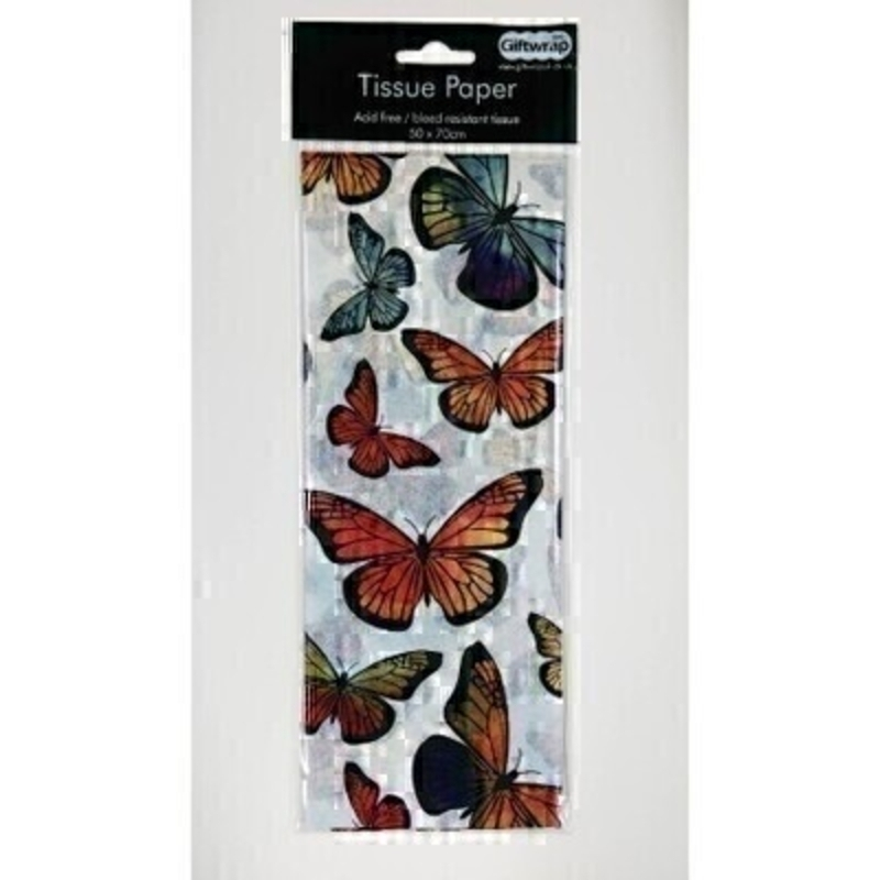 Colourful Butterfly White Tissue Paper By Stewo