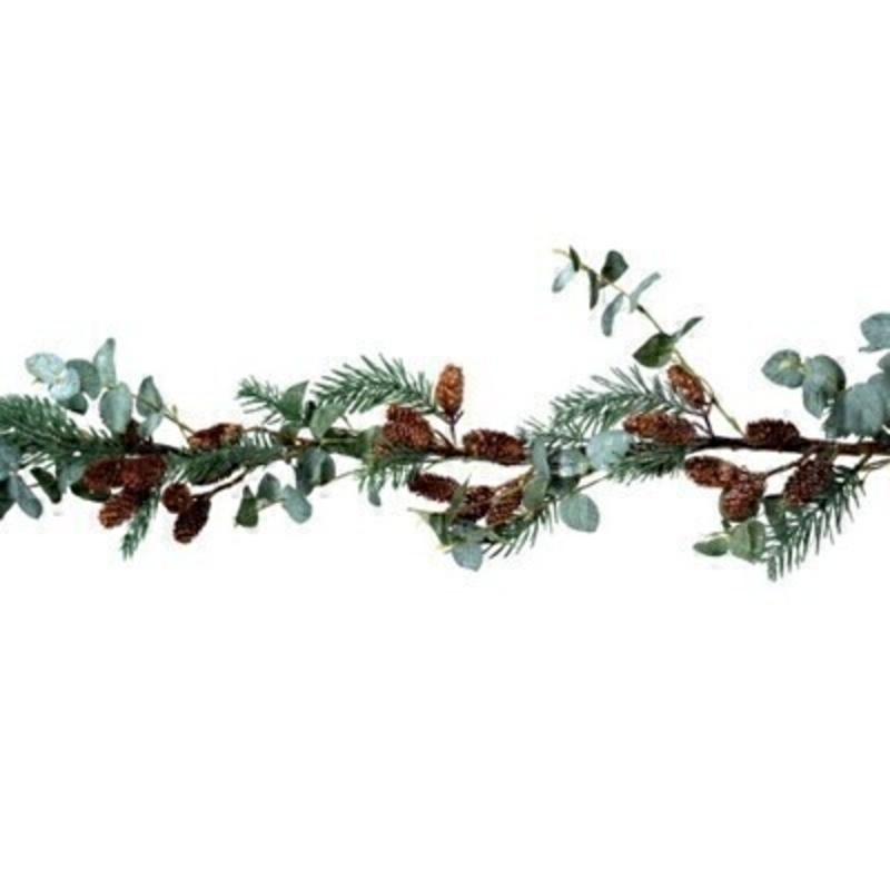 Eucalyptus Fir and Cone Garland Gisela Graham