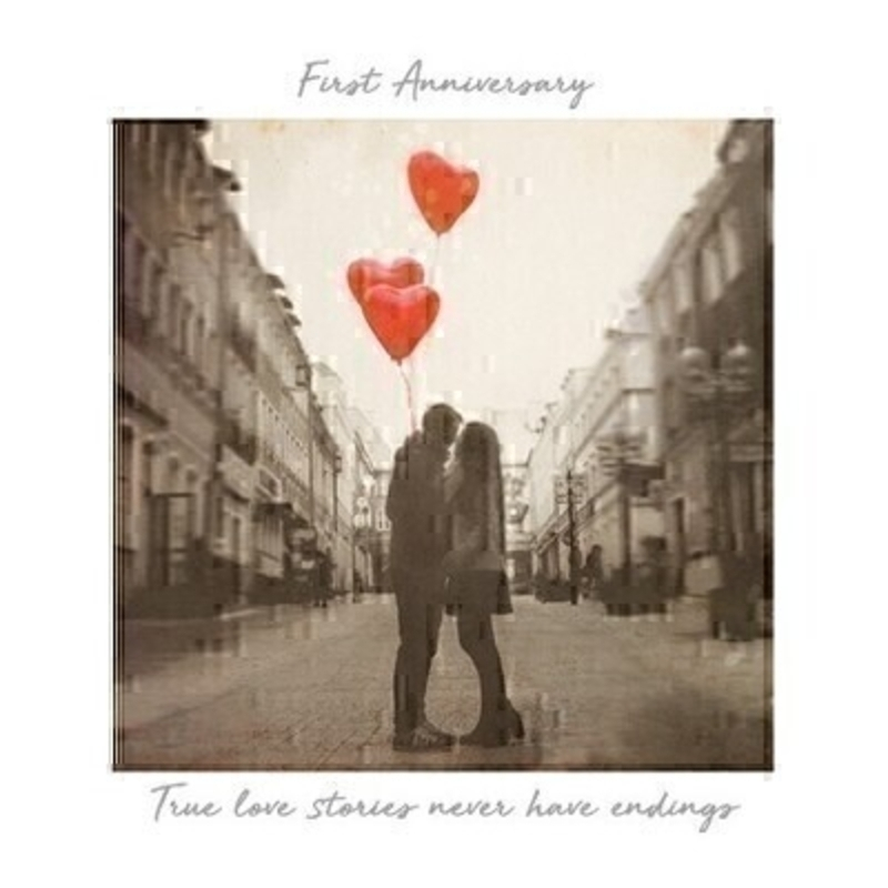 First Anniversary Greetings Card by Paper Rose