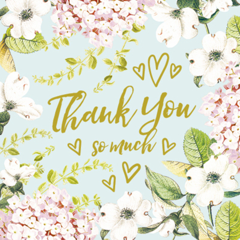 Floral Thank  You So Much Card by Paper Rose
