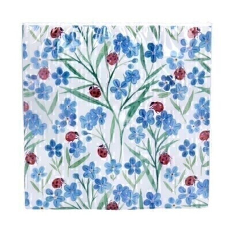 Forget-Me-Not Ladybird 20 Paper Napkins By Gisela Graham