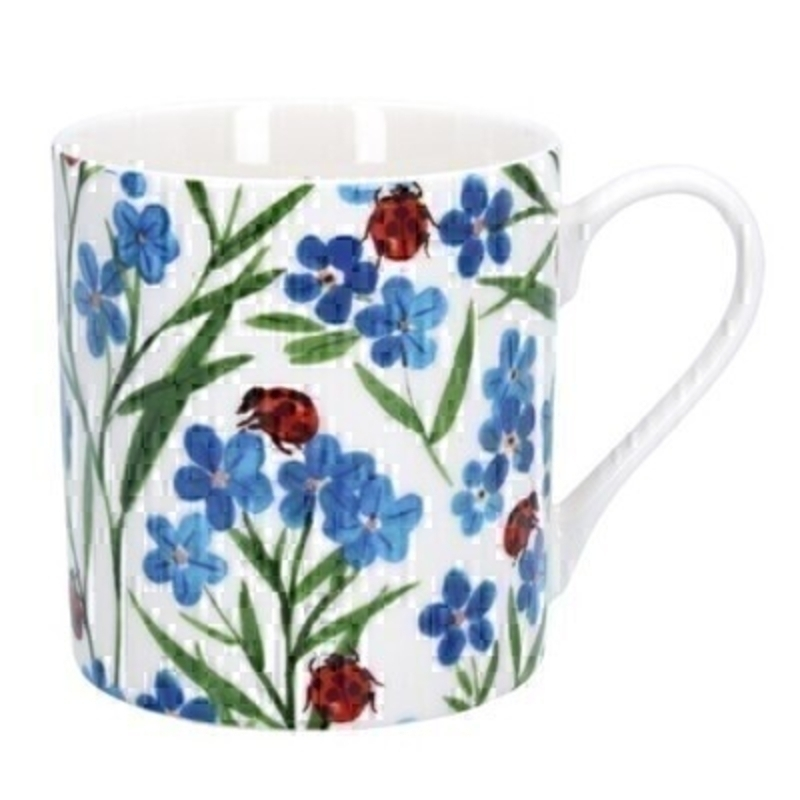 Forget-Me-Not Ladybird Ceramic Mug By Gisela Graham
