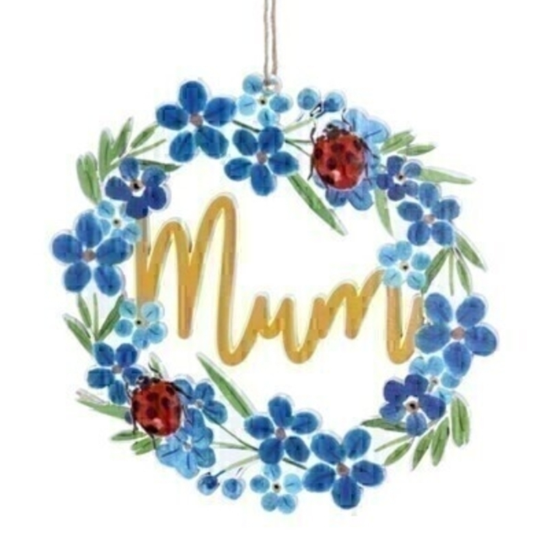 Forget-Me-Not Mum Wooden Decoration By Gisela Graham