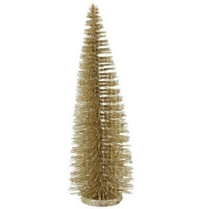 Gold Glitter Bristle Tree Gisela Graham