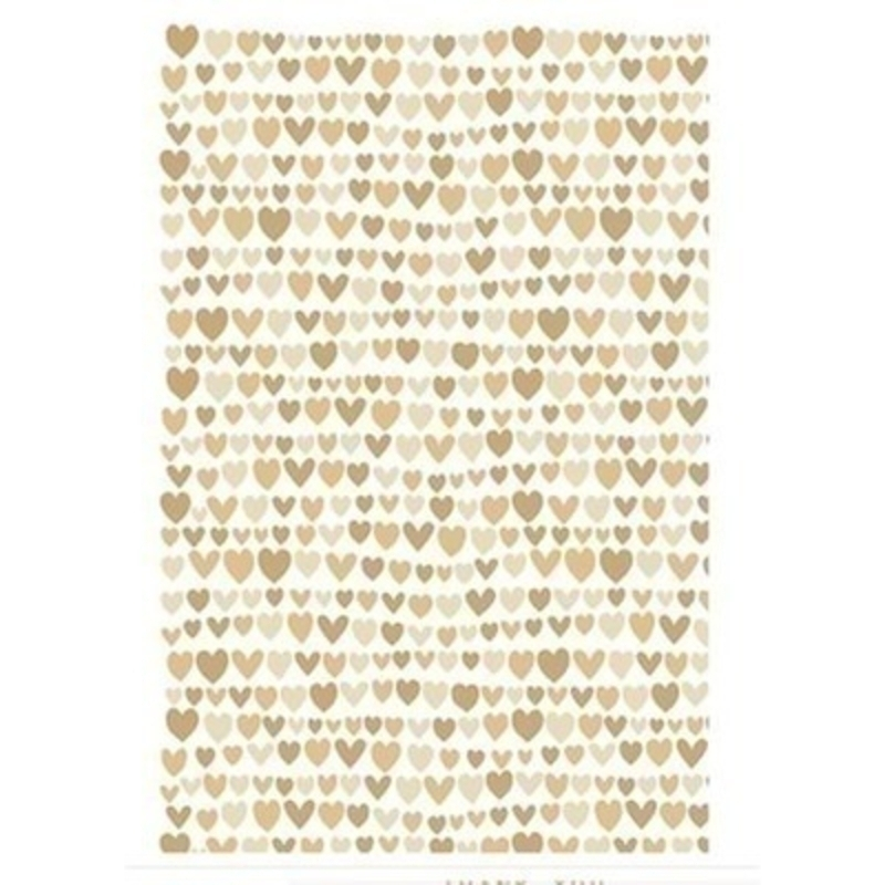 Gold and Silver Heart Wrapping Paper by Stewo