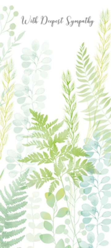 Green Ferns Sympathy Card by Paper Rose