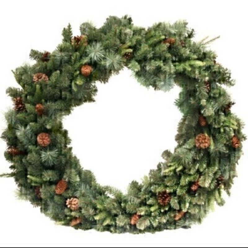 Green Fir Festive Wreath With Cones Gisela Graham