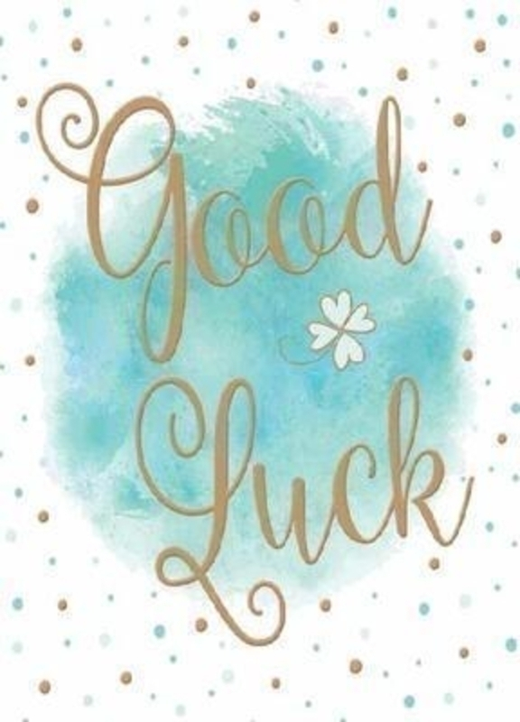 Green and Gold Dotty Good Luck Card by Paper Rose