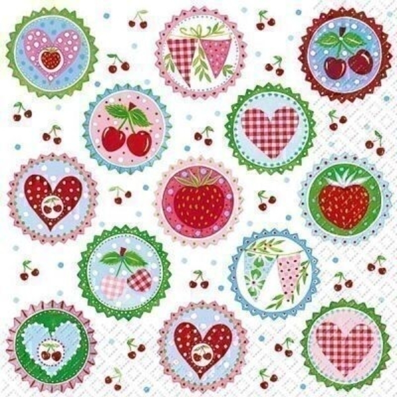 Hearts and Bunting Jolanda Paper Napkins by Stewo